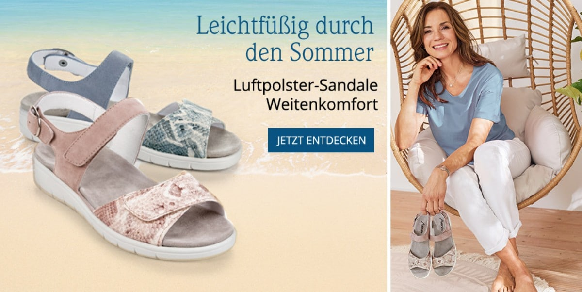 Luftpolster-Sandale Weitenkomfort | Avena