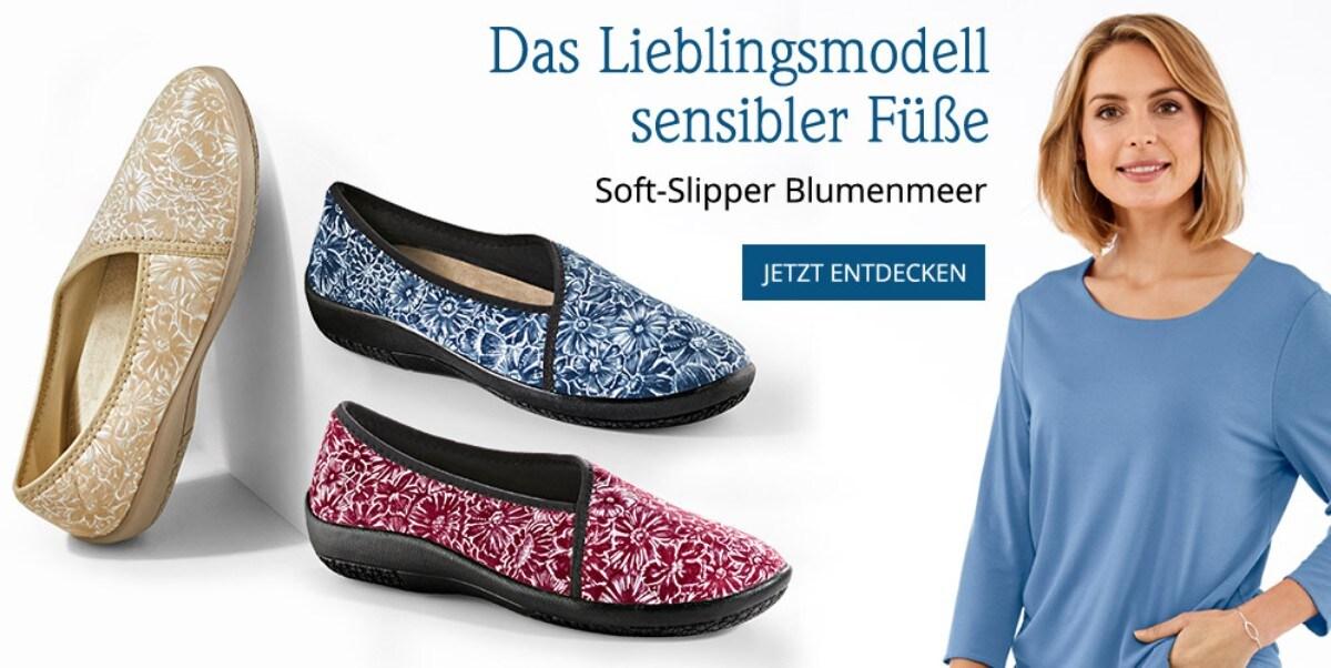 Hallux-Soft-Slipper Blumenmeer | Avena