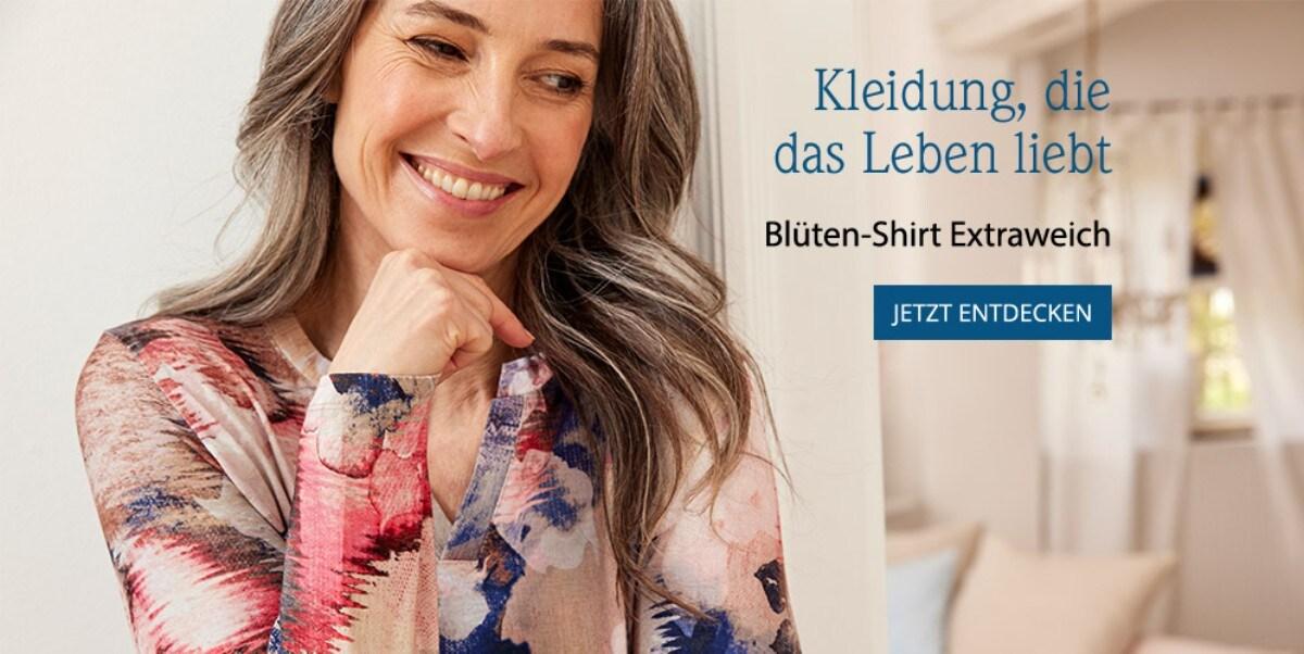 Blüten-Shirt Extraweich   Avena