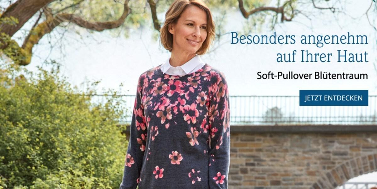 Soft-Pullover Blütentraum   Avena