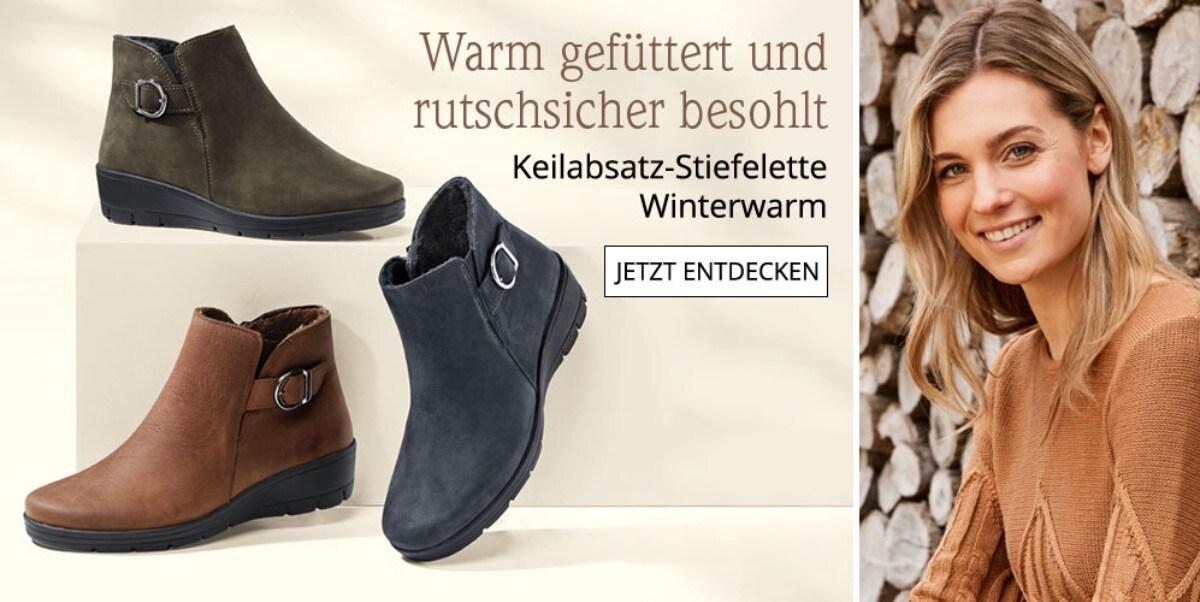 Keilabsatz-Stiefelette Winterwarm | Avena