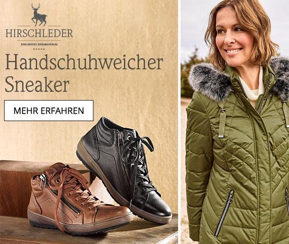 Hirschleder-Sneaker Thermoleicht   Avena