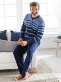 Softbaumwoll-Schlafanzug Streifen