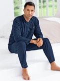 Supersoft-Schlafanzug Streifen