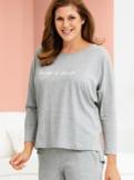 Loungewear-Langarm-Shirt