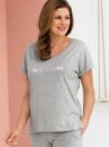 Loungewear-Kurzarm-Shirt