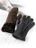 Lammfell Fingerhandschuh