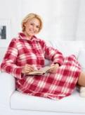 Kuschelfleece-Nachthemd/Hauskleid