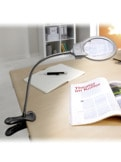 LED-Lupe mit Cliphalter