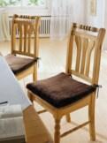 Lammfell-Stuhlauflage 6er-Set