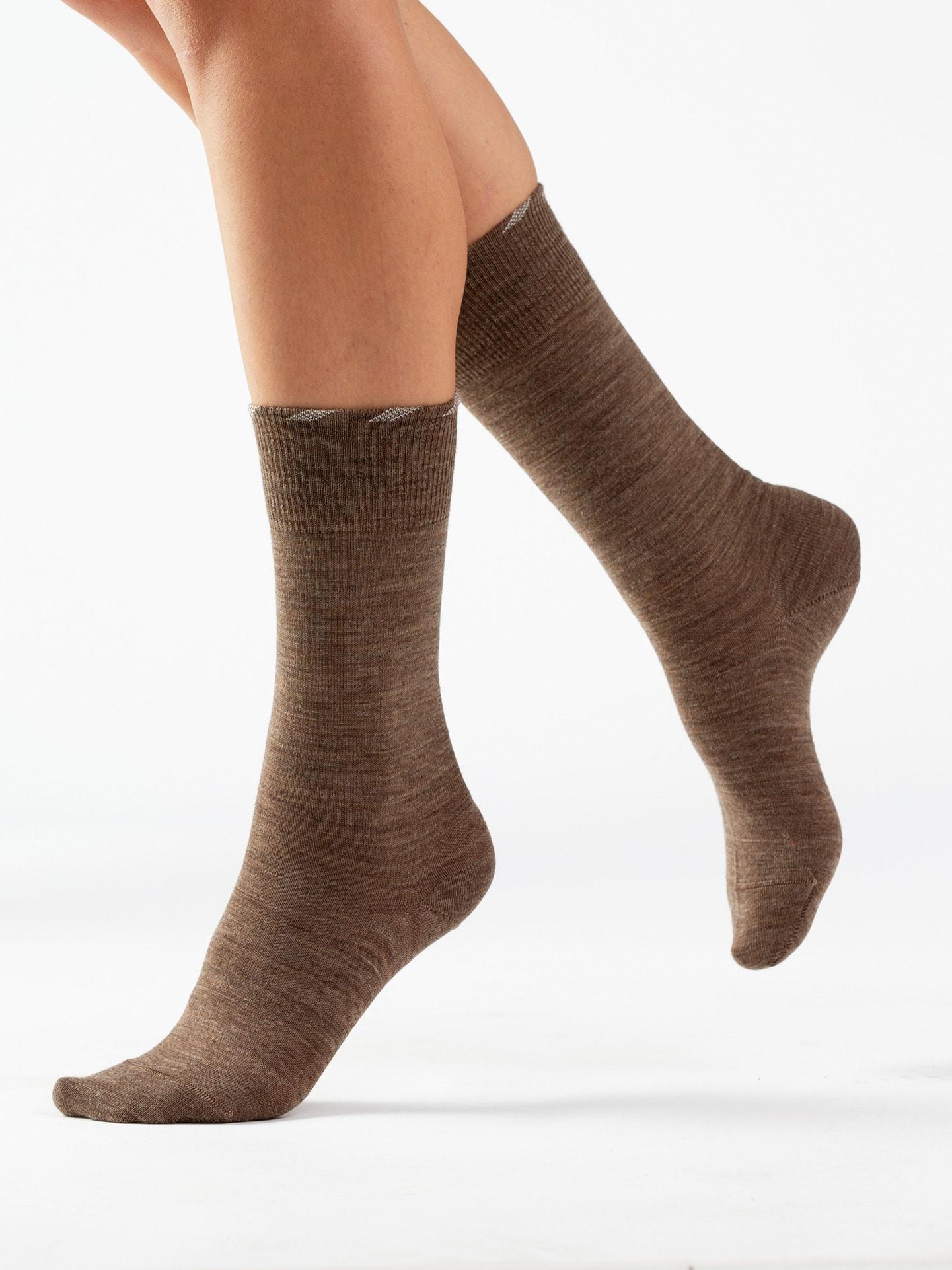 Avena Herren Lambswool-Socke antibakt. 2 Paar Beige 21-5088-6
