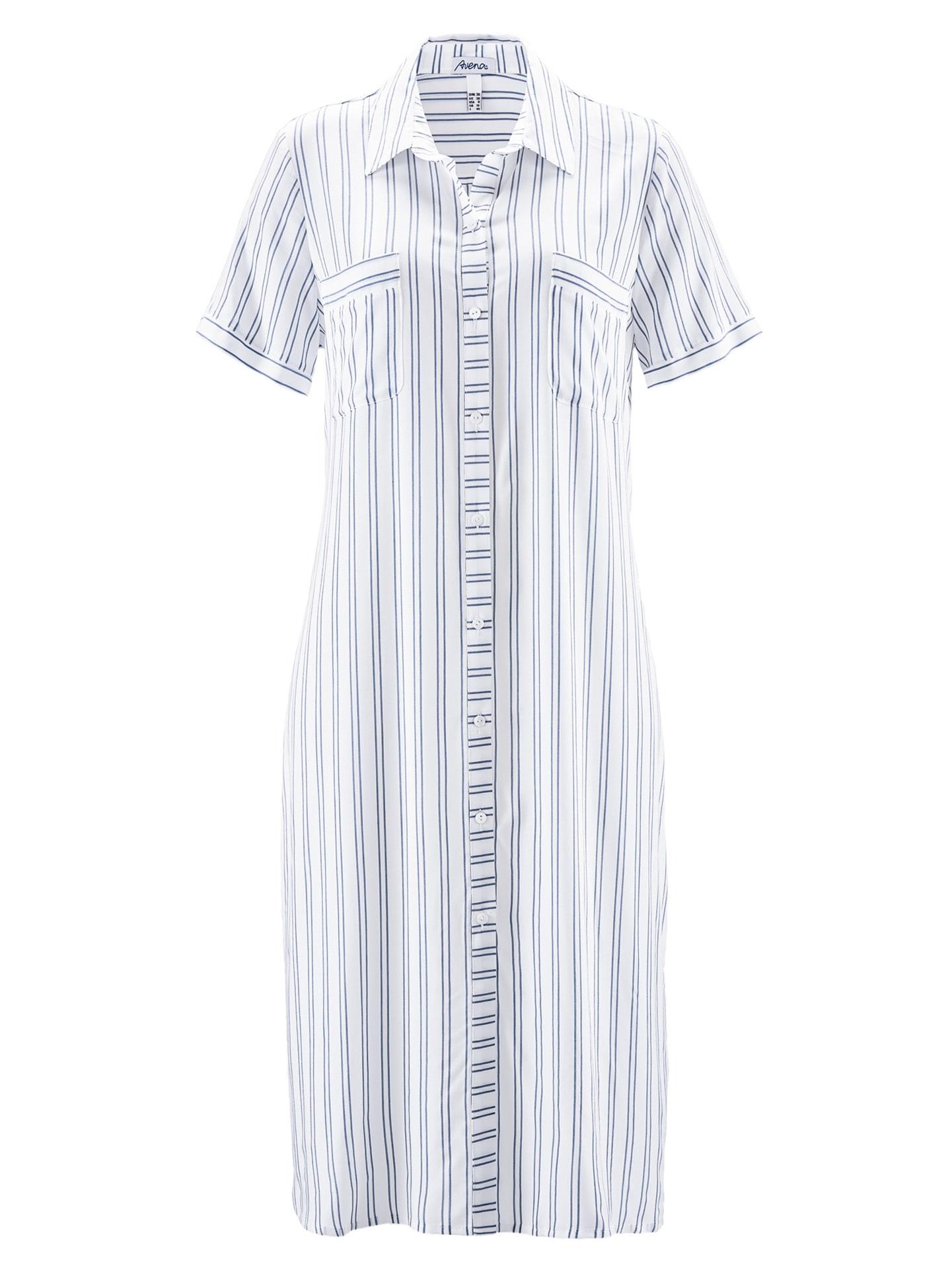 Avena Damen Nachthemd Sommertraum Weiß 42-6133-5