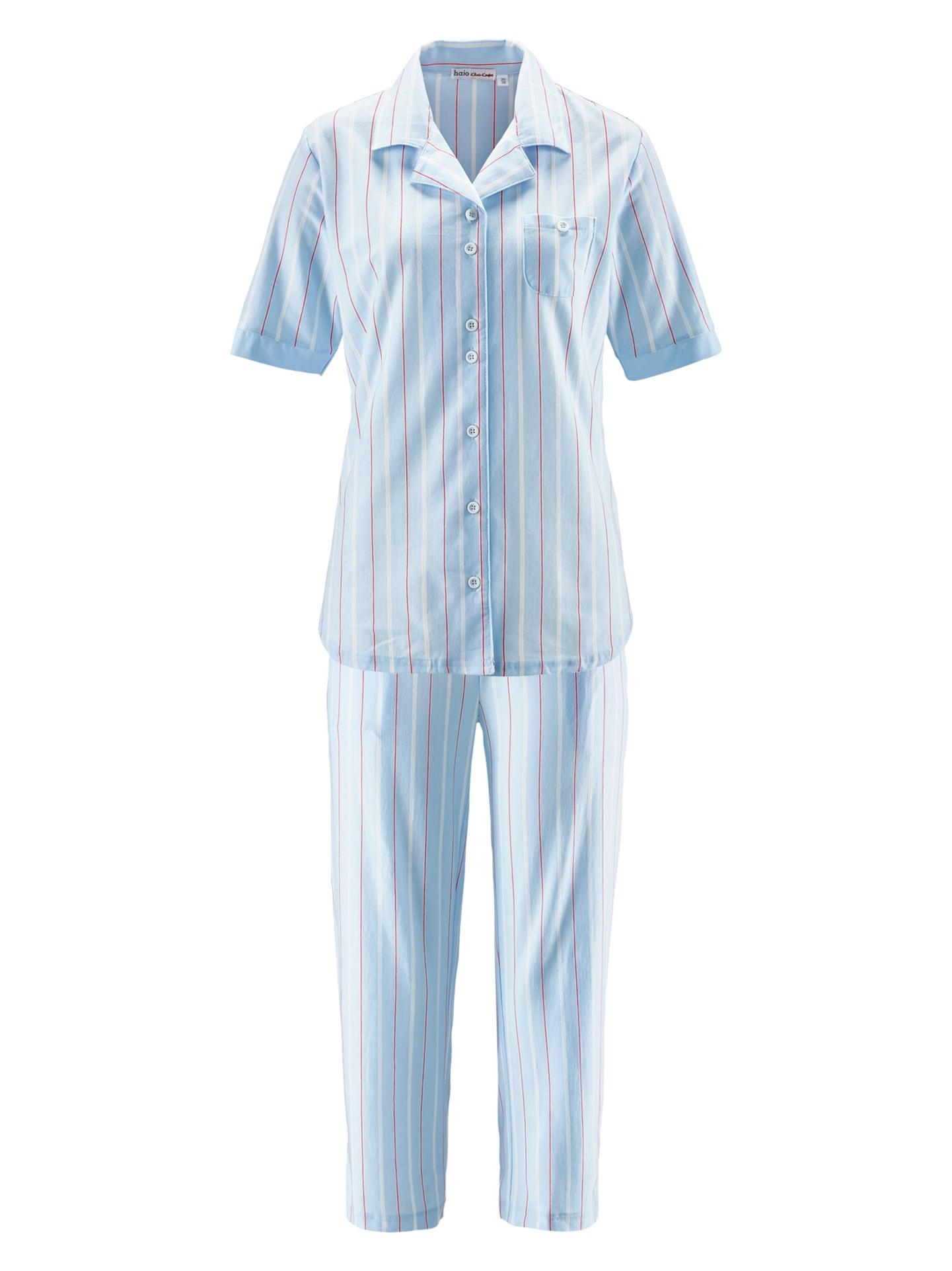 Avena Damen Pyjama Blau gestreift 42-6168-7_MV8880