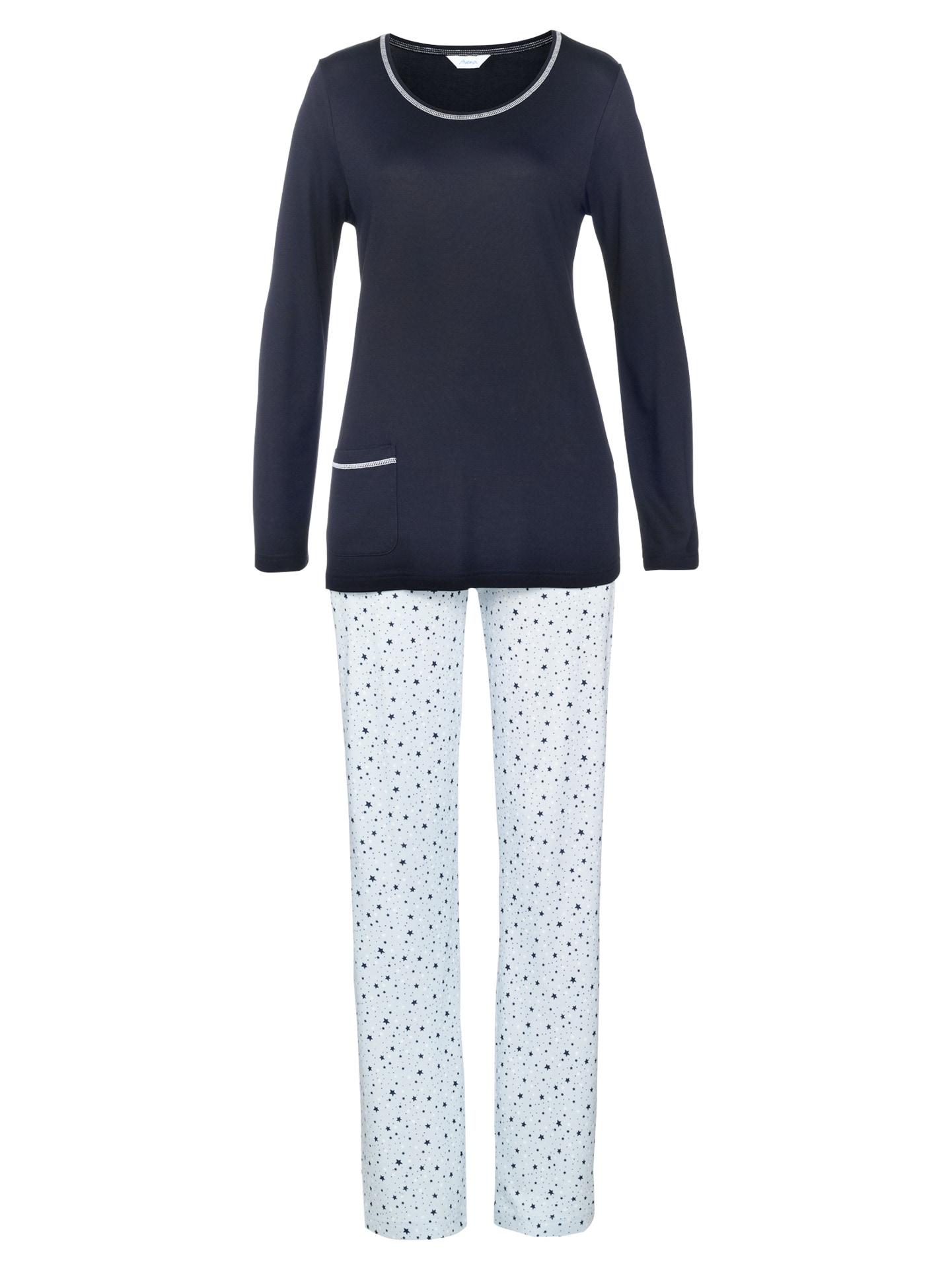 Avena Damen Pyjama Hellblau gemustert 42-6175-5_MV8880