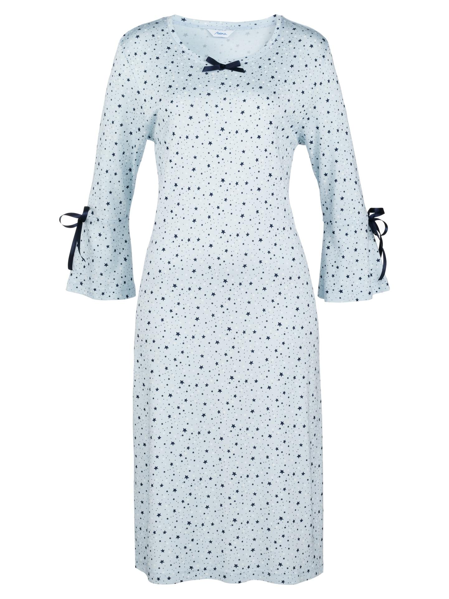 Avena Damen Thermosoft-Nachthemd Sterne Hellblau 42-6176-2