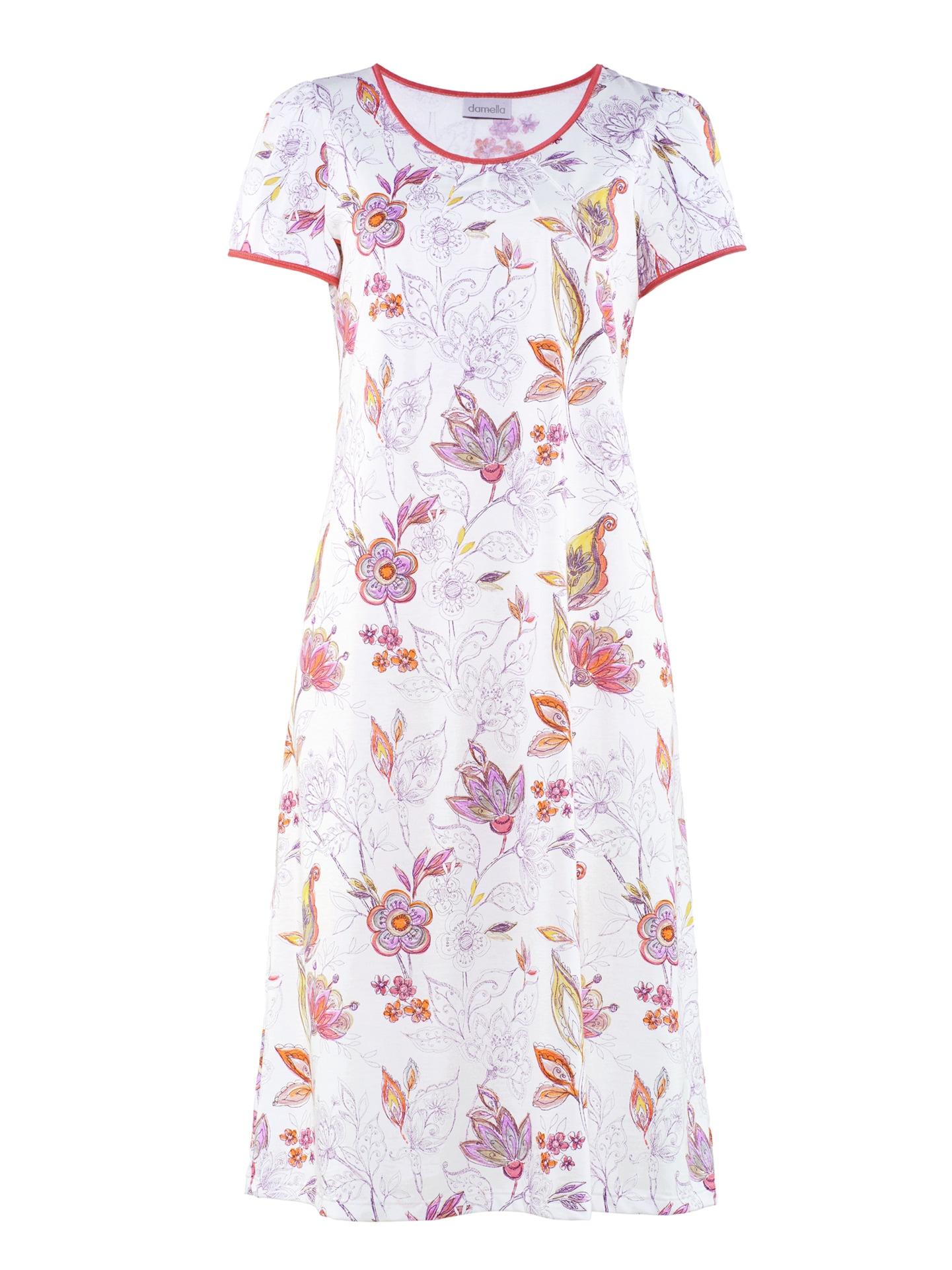 Avena Damen Klima-Nachthemd Baumwolle Weiß 42-6401-5