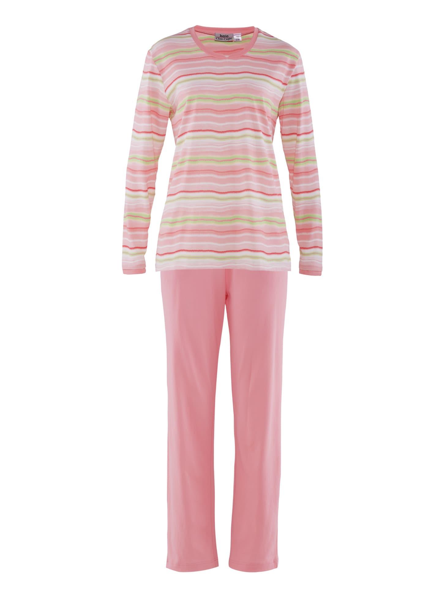 Avena Damen Pyjama Rot gestreift 42-6408-4_MV8880