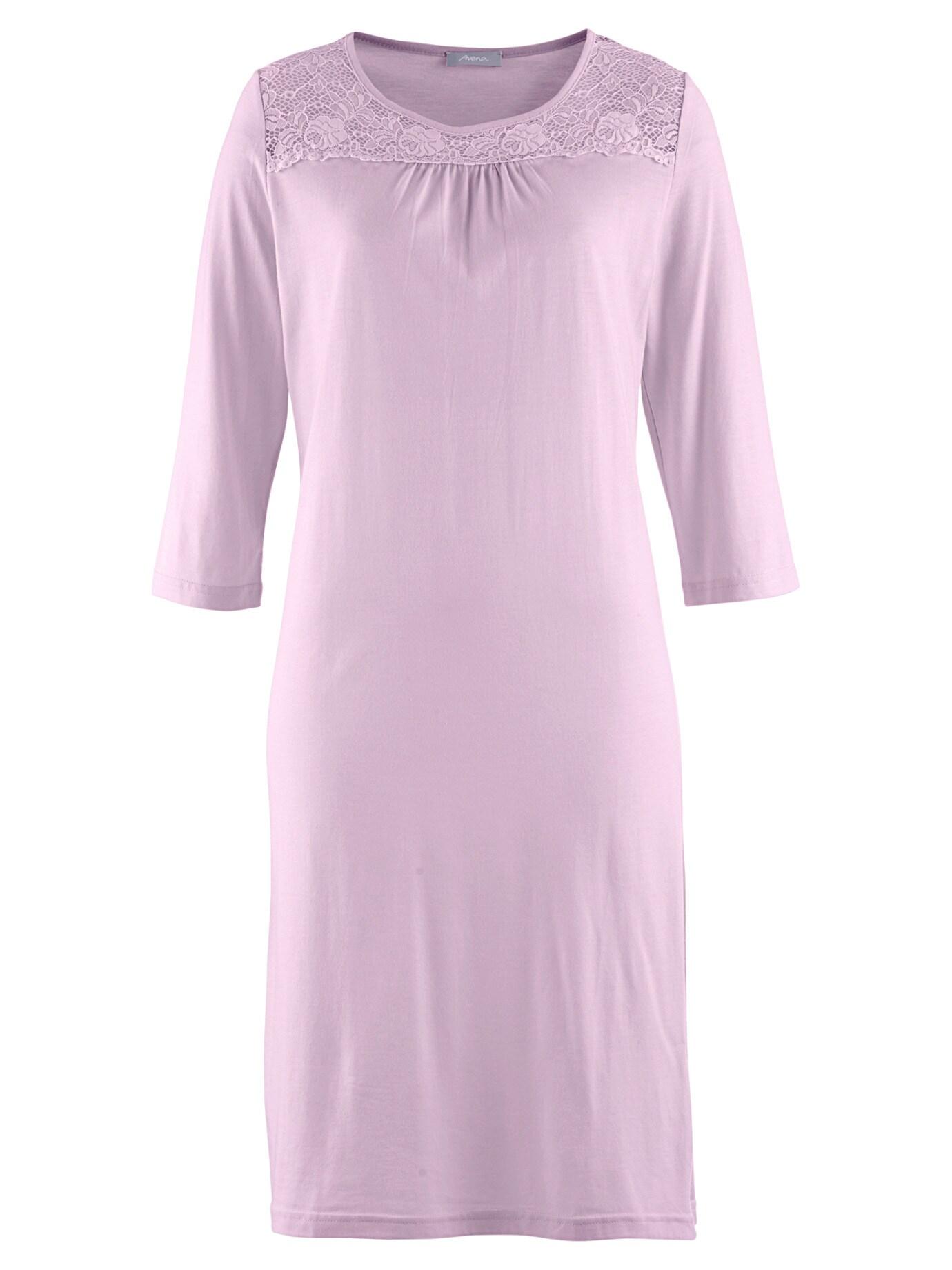 Avena Damen Nachthemd Spitzen-Detail Rose 42-9160-8