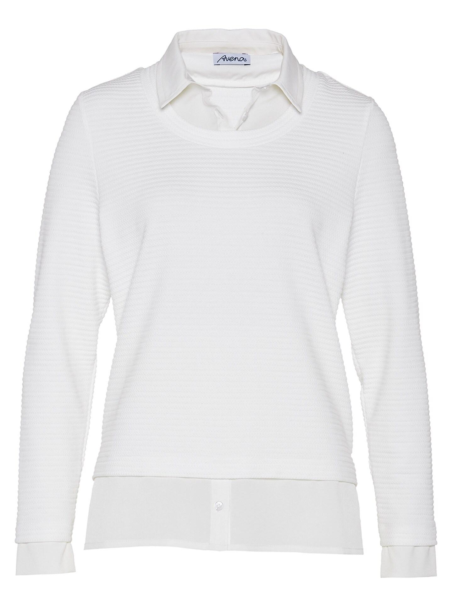 Walbusch Damen 2in1 Blusenshirt Weiß 43-2629-6