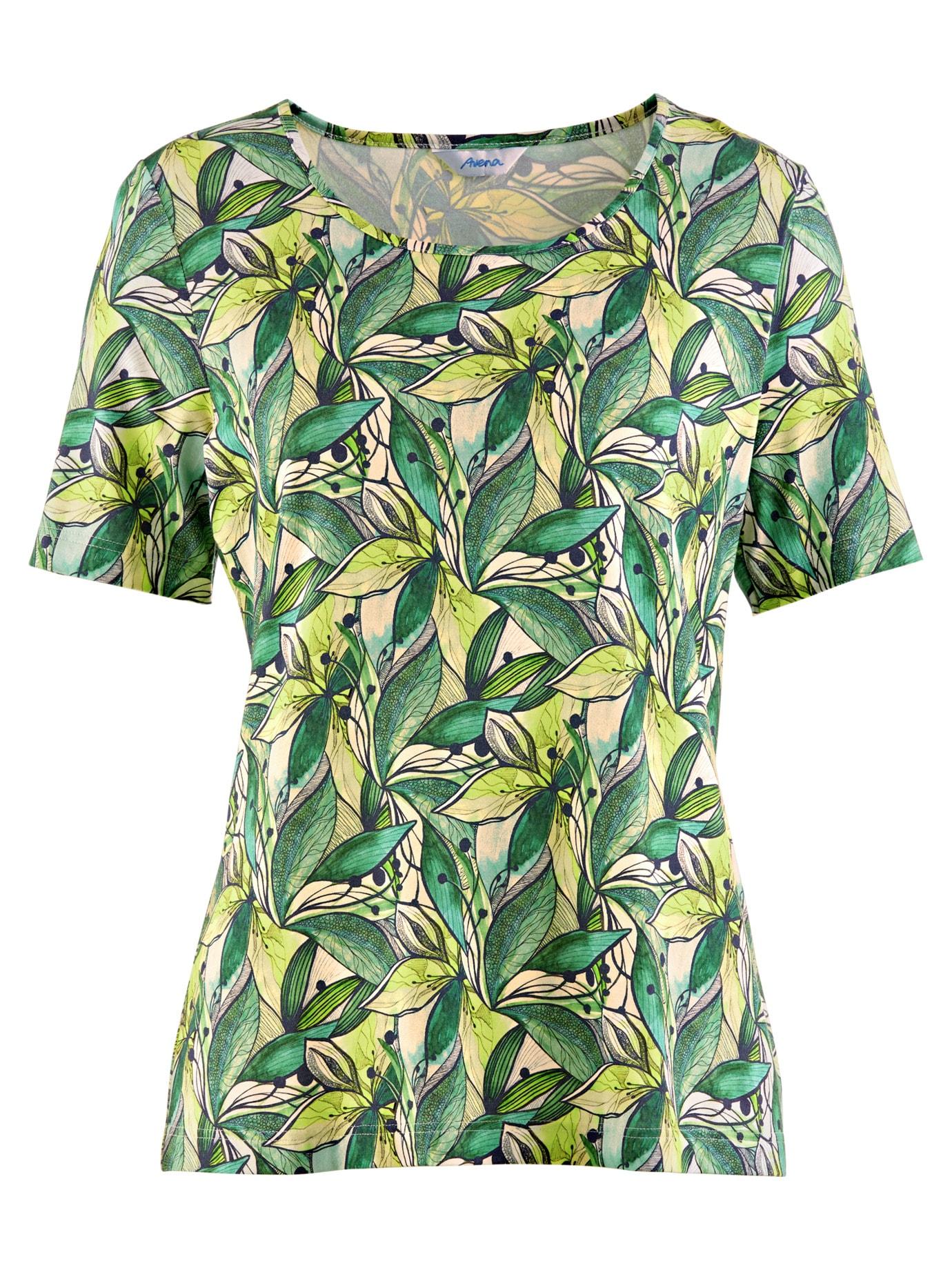 Avena Damen Aloe vera-Shirt Sommerfrische Gruen 43-6106-8