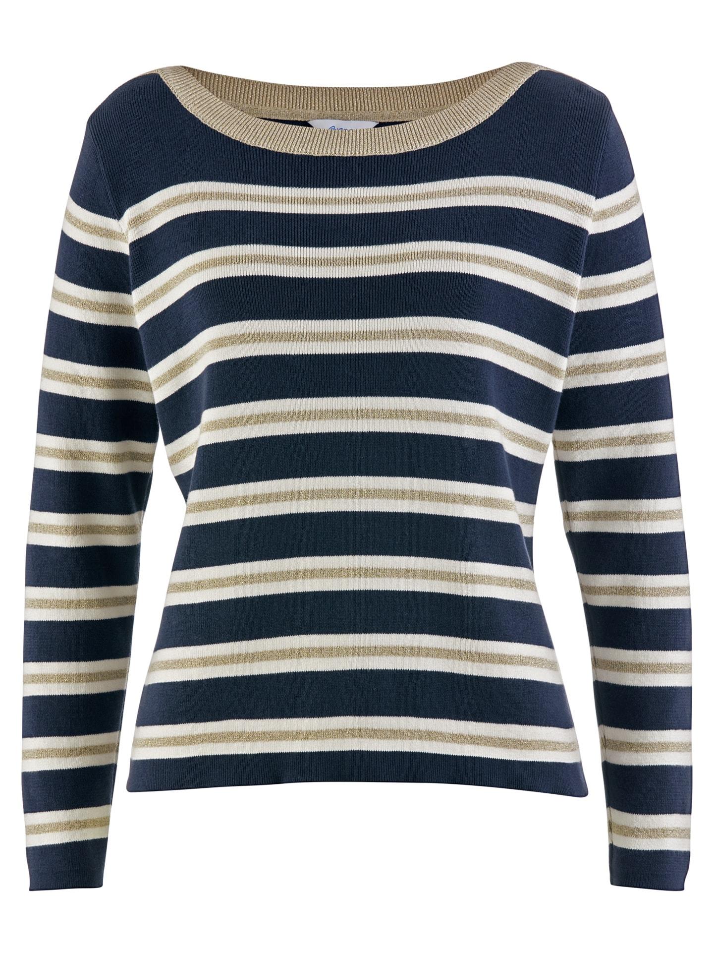 Avena Damen Streifen-Pullover Ruderclub Blau 43-8721-1