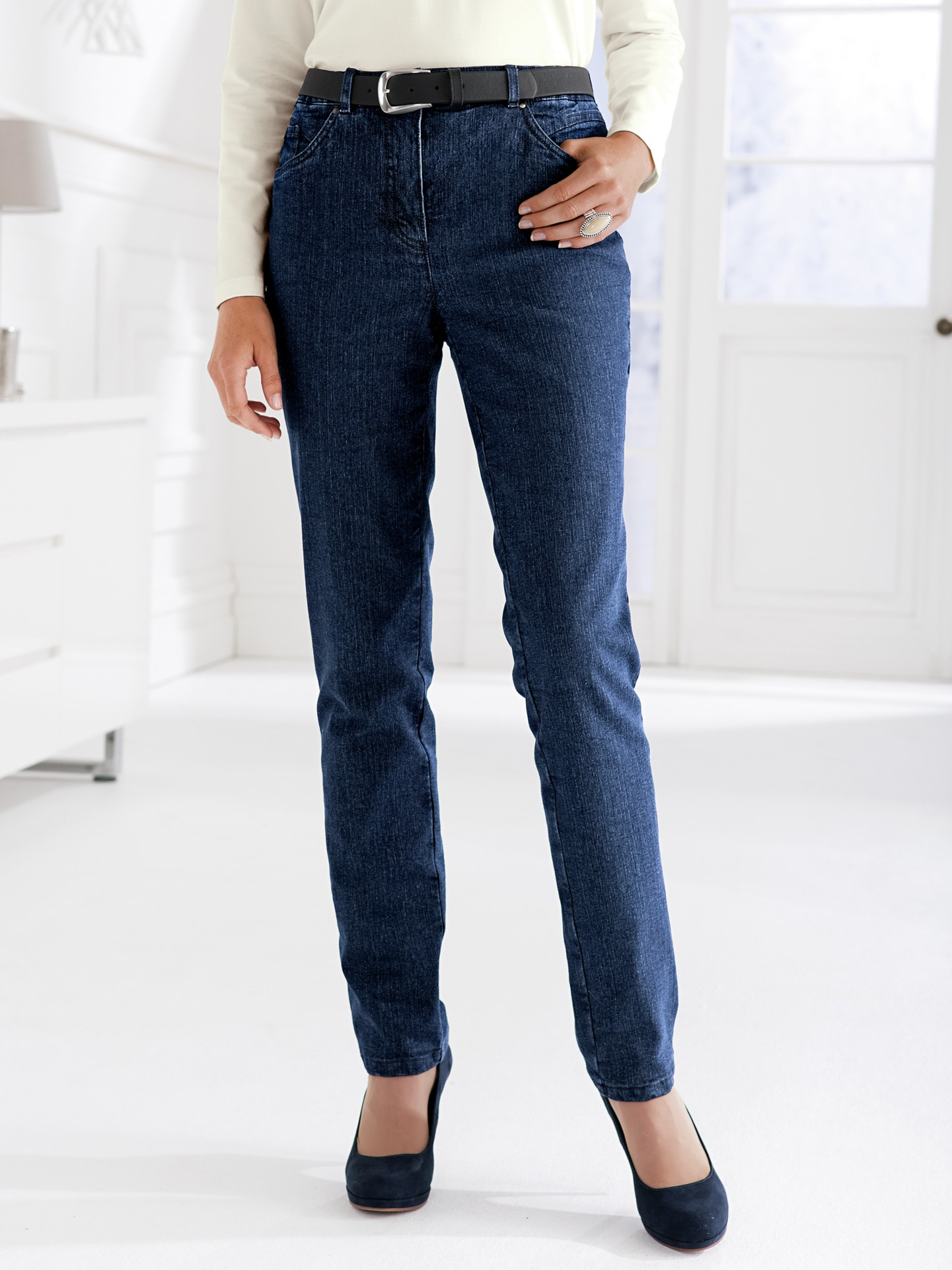 damen thermo jeans 5 pocket direkt bestellen avena. Black Bedroom Furniture Sets. Home Design Ideas