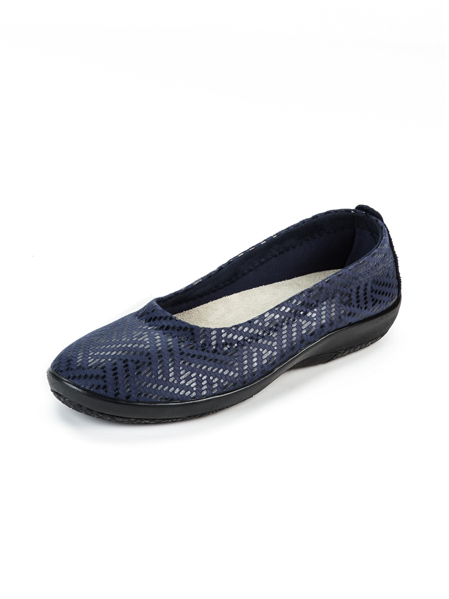 Avena Damen Hallux-Soft-Slipper Flechtmuster Blau 45-6859-1