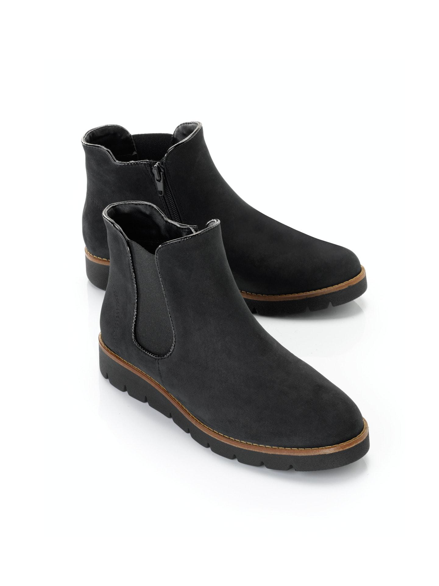 Damen Chelsea-Boots Flexibility Schwarz Gr. 40