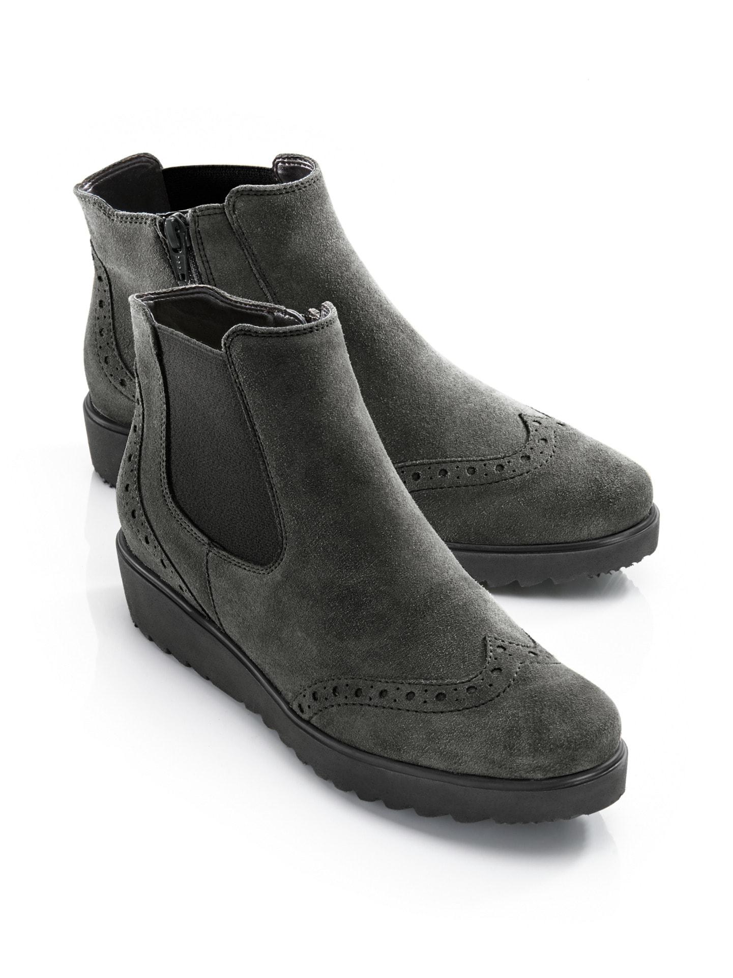Avena Damen Soft-Stiefelette Select Lammvelours Grau 8Yj50x