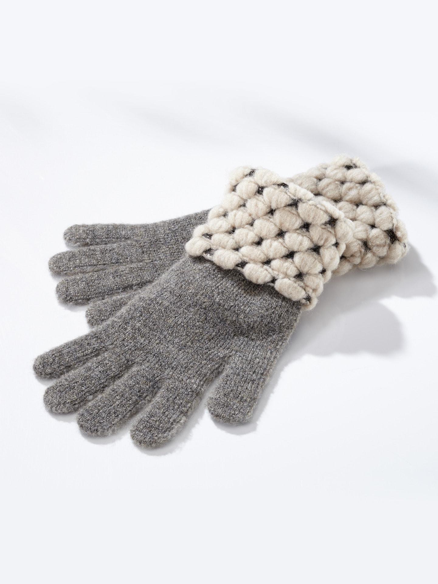 Wegener Damen Strick-Handschuhe Thermo Beige bi-color   Accessoires > Handschuhe > Strickhandschuhe   Wegener
