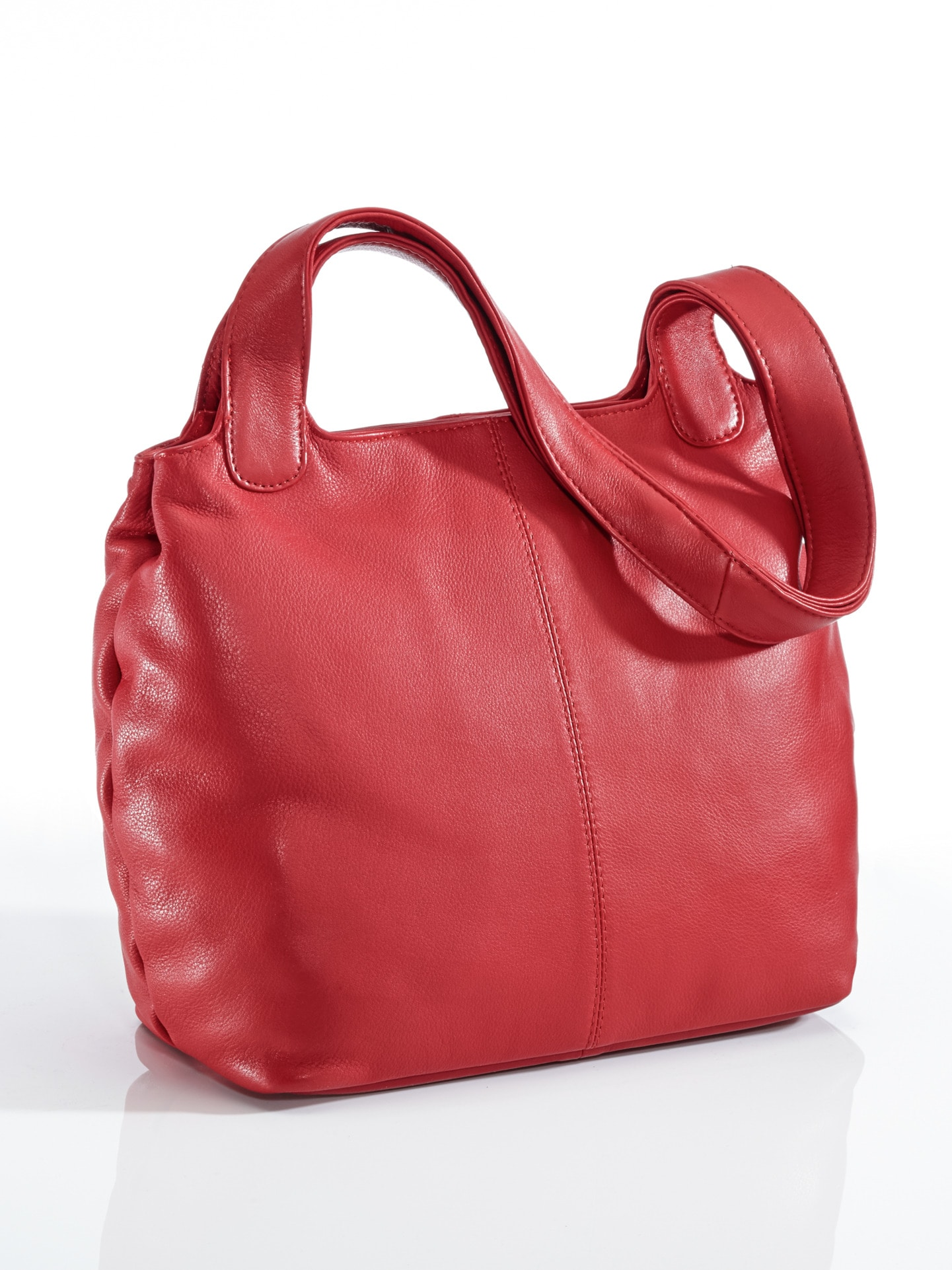 Avena Damen Leder-Shopper Easy Going Rot 49-5206-0