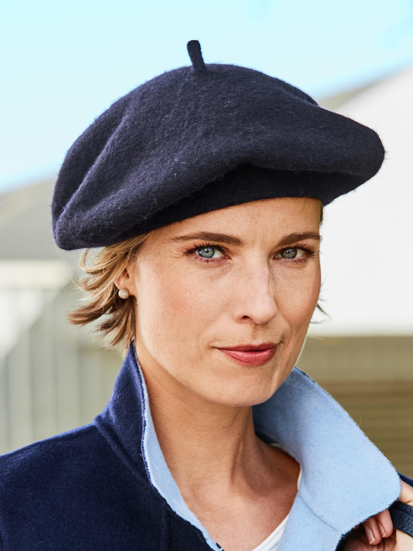 Wegener Damen Baskenmütze Blau 49-5280-0