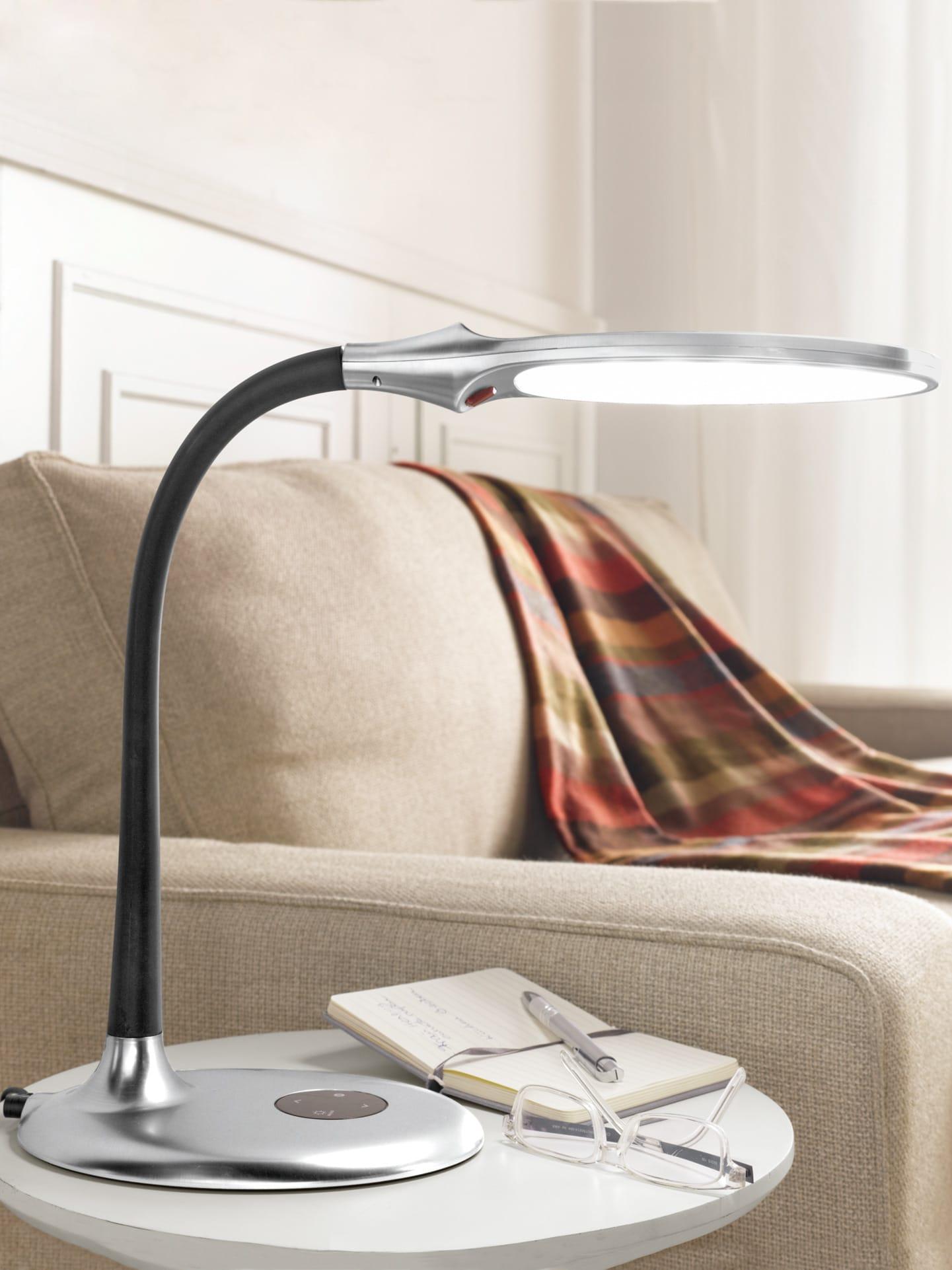 Avena LED Tageslicht-Tischleuchte Grau
