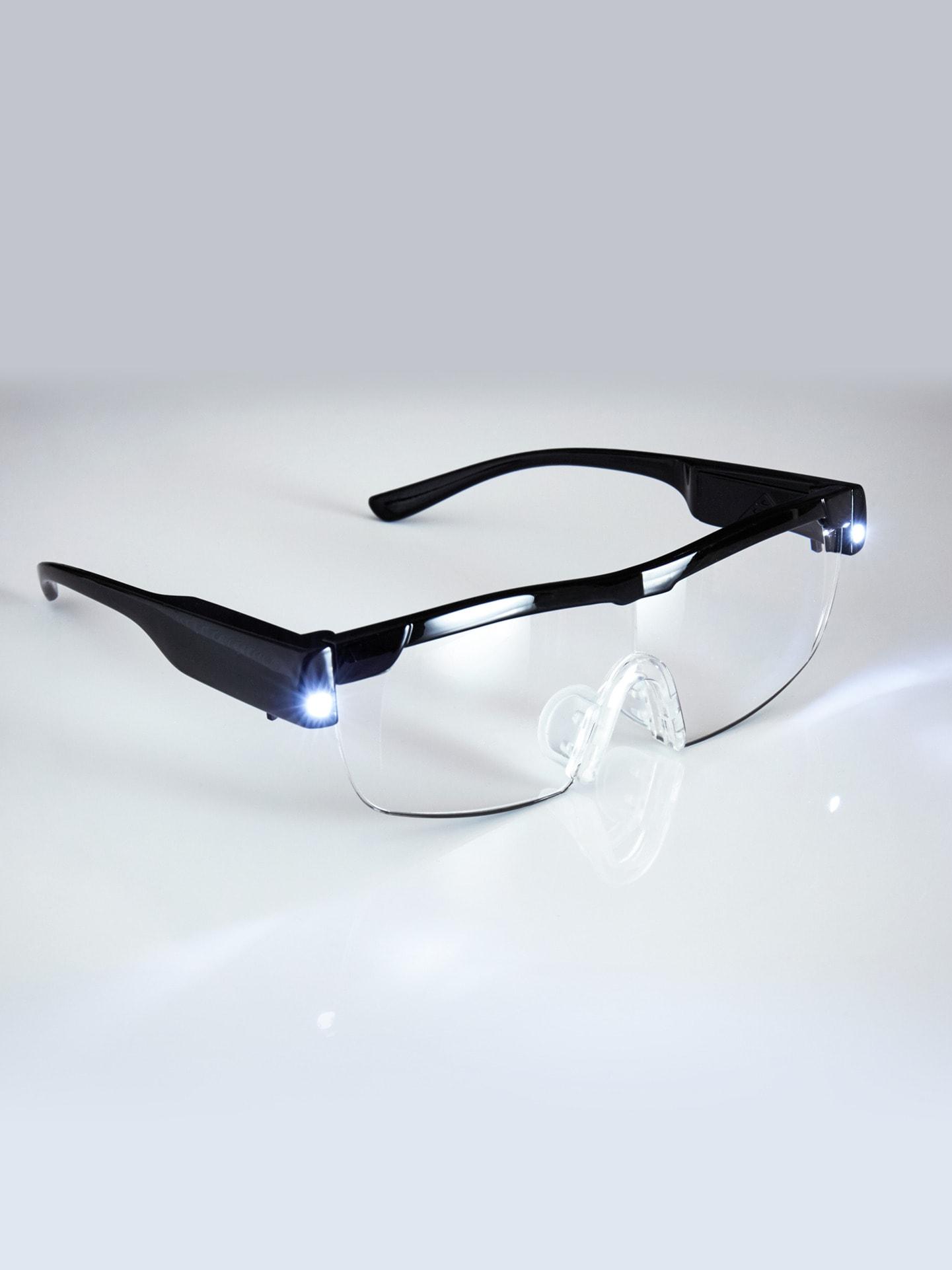 Avena Herren LED-Vergrößerungsbrille Schwarz 61-0274-6