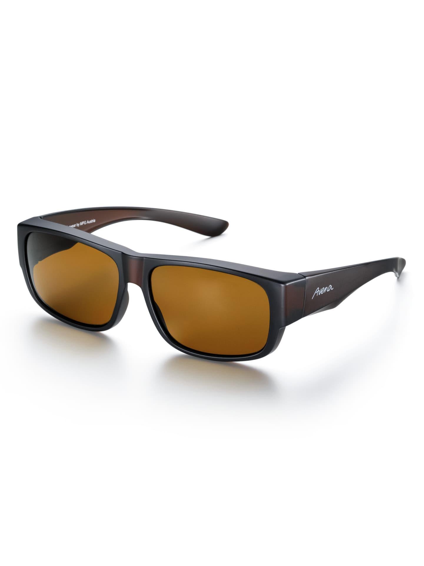 Avena Herren Überzieh-Sonnenbrille Schwarz 63-0629-2