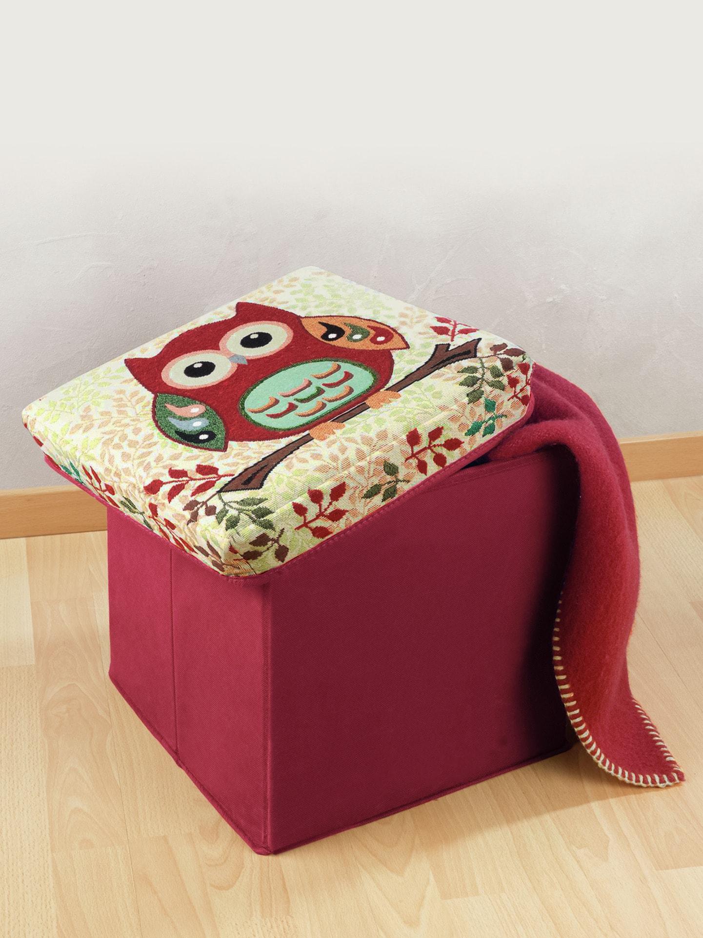 sitzhocker mit stauraum eule im online shop bequem kaufen avena. Black Bedroom Furniture Sets. Home Design Ideas
