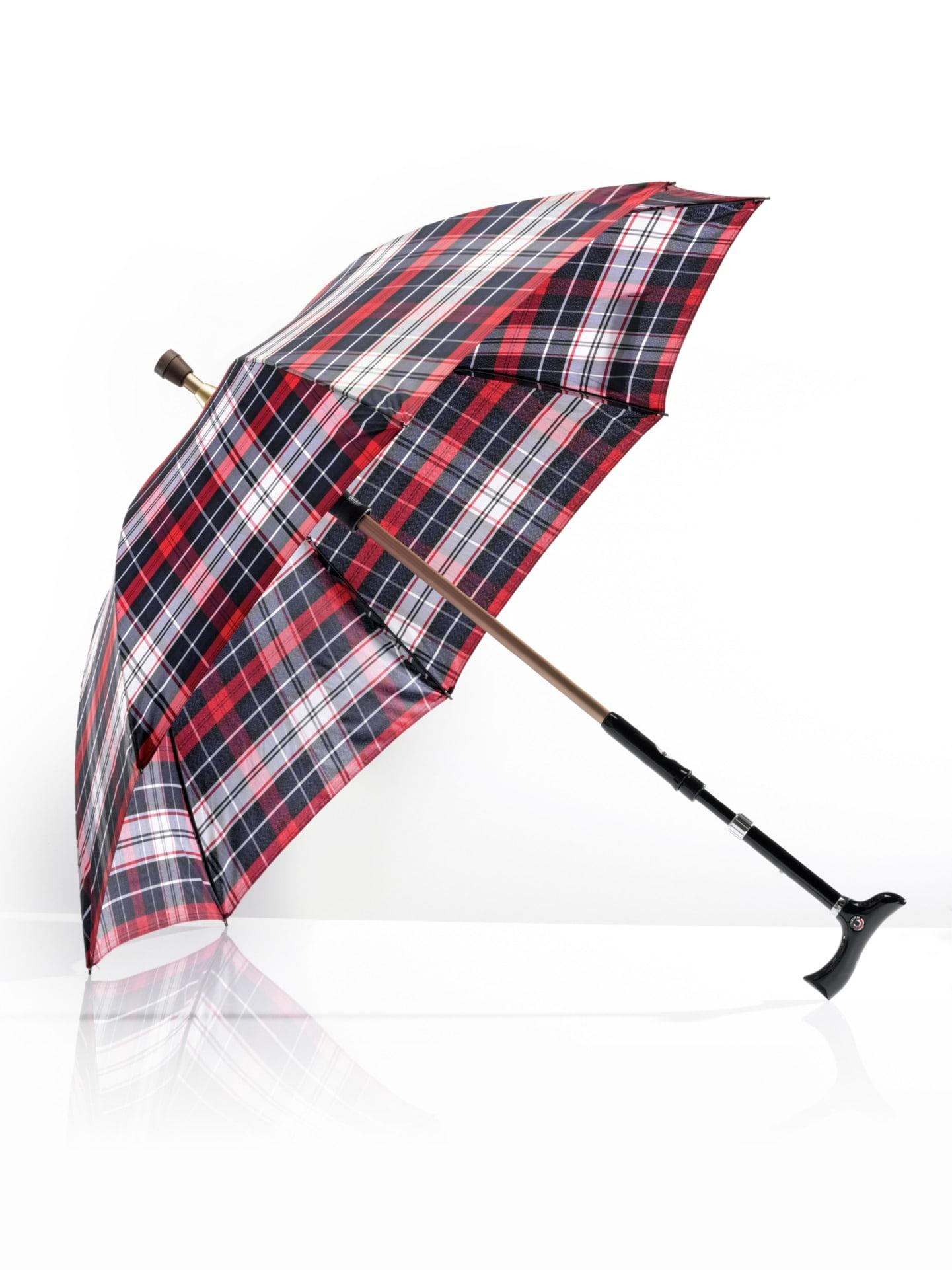 Avena Herren 2 in1-Regenschirm mit Gehstock Rot 63-0931-6