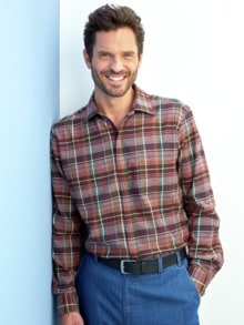 Thermoflanell-Hemd Reißverschluss