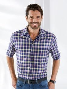 Reißverschluss-Hemd Bügelfrei