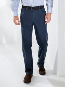 Baumwoll-Komfortbundhose Leicht Blau Detail 1