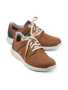 Derby-Sneaker Weitenkomfort Braun Detail 1