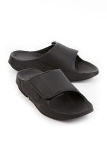Pantolette Soft-Komfort Schwarz Detail 1