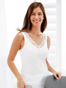 Baumwoll-Viskose Unterhemd