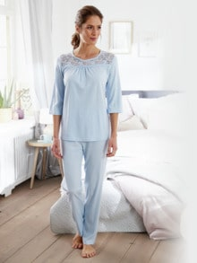 Schlafanzug Spitzen-Detail