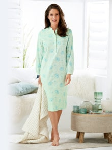 Thermo-Nachthemd Blüten-Dessin