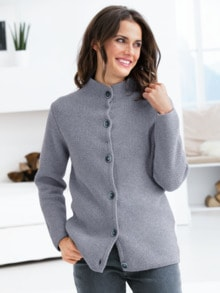Yak-Strickjacke Luxus Pur