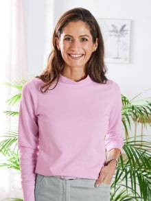 Stehkragen-Shirt Pfirsichweich