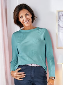 Pullover Blüten-Jacquard