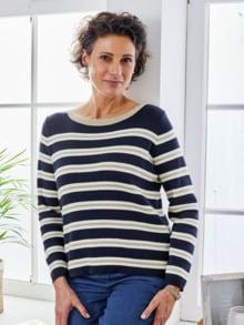 Streifen-Pullover Ruderclub