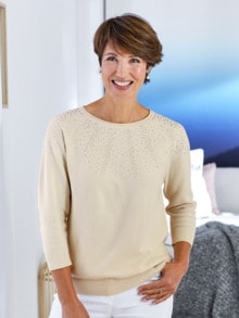 Leicht-Pullover Punktausschnitt